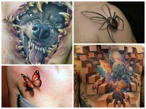 Крутые 3D tattoo