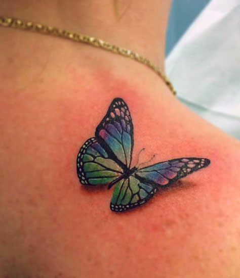 Фото тату 3д бабочки