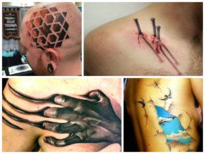 Много 3D tattoo