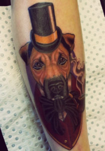 Dog tattoo style STR